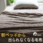 【アンジェ】19万枚突破!「朝ベッドから出られなくなる毛布」モニター募集♪